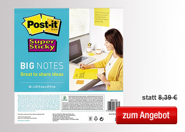 Post-it® Haftnotiz Super Sticky BIG NOTES