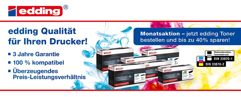 Monatsaktion September - edding Toner
